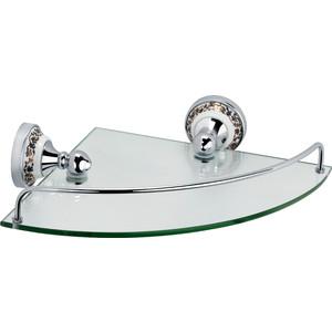 Полка стеклянная угловая 28x28x7 Fixsen Bogema (FX-78503A) цена
