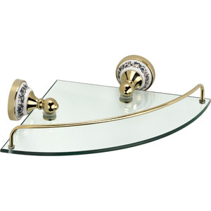 Полка стеклянная угловая 28x28x7 Fixsen Bogema Gold (FX-78503AG) fixsen bogema gold fx 78506g