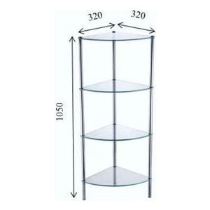 Четырехэтажная стеклянная этажерка Fixsen (FX-9224)