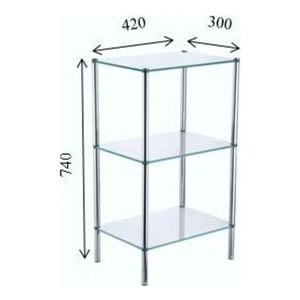 Трехэтажная стеклянная этажерка Fixsen (FX-9333) fixsen square fx 93113