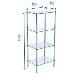 Четырехэтажная стеклянная этажерка Fixsen (FX-9334) fixsen style fx 41103