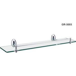 Полка стеклянная 52 см Grampus Briz (GR-3003) дозатор жидкого мыла grampus briz gr 3012