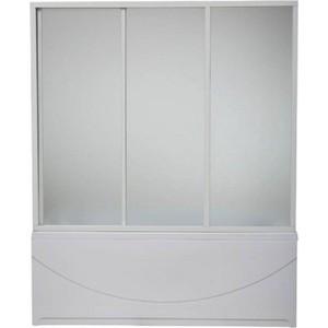 Шторка на ванну BAS Бриз, Верона, Ибица 150х145, 3 створки, стекло Грейп (ШТ00023)