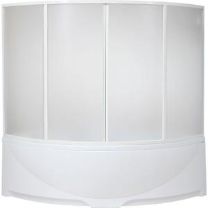 Шторка на ванну BAS Дрова 160х145, 4 створки, пластик Вотер (ШТ00027)