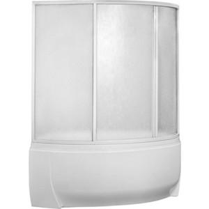 Шторка на ванну BAS Флорида 160х145, 4 створки, пластик Вотер (ШТ00044)