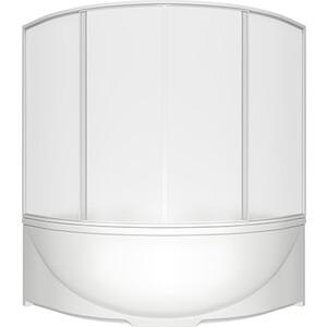 Шторка на ванну BAS Ирис, Империал 150х145, 4 створки, пластик Вотер (ШТ00028)