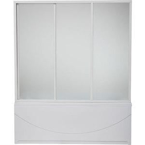 Шторка на ванну BAS Ямайка 180х145, 3 створки, стекло Грейп (ШТ00048)  bas фиджи r шторка графит черная