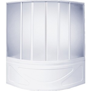 Шторка на ванну BAS Мега 160х145, 6 створки, пластик Вотер (ШТ00034)