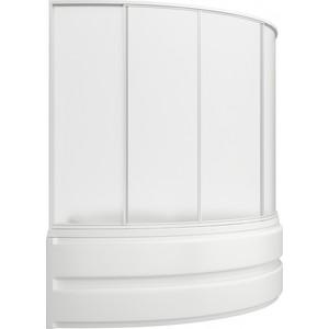 Шторка на ванну BAS Сагра 160х145, 4 створки, стекло Грейп (ШТ00038)  bas фиджи r шторка графит черная