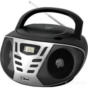 Магнитола BBK BX193U black/silver аудиомагнитола bbk bx193u черный серый bbk bx193u черный серый