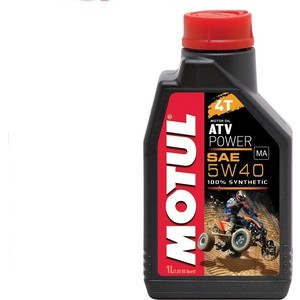 Моторное масло MOTUL ATV Power 4T 5W-40 1 л моторное масло motul 300 v 4t fl road racing 10w 40 4 л