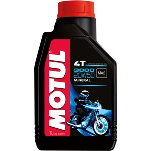 Моторное масло MOTUL 3000 4T 20W-50 1 л моторное масло motul 300 v 4t fl road racing 10w 40 4 л