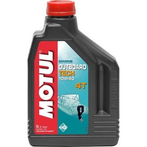 Моторное масло MOTUL Outboard Tech 4T 10W-40 2 л моторное масло motul 300 v 4t fl road racing 10w 40 4 л