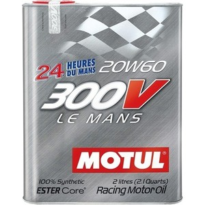 Моторное масло MOTUL 300V Le Mans 20W-60 2 л motul 300 v power 5w40 2л