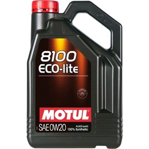 Моторное масло MOTUL 8100 Eco-lite 0W-20 4 л моторное масло motul 8100 eco nergy 0w 30 5 л