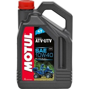 Моторное масло MOTUL ATV-UTV 4T 10W-40 4 л моторное масло motul 300 v 4t fl road racing 10w 40 4 л