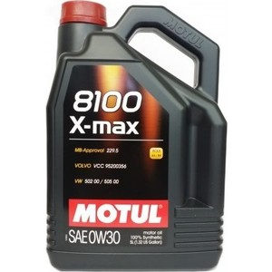 Моторное масло MOTUL 8100 X-max 0W-30 5 л моторное масло motul 8100 eco nergy 0w 30 5 л