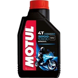 Моторное масло MOTUL 3000 4T 10W-30 1 л моторное масло motul 300 v 4t fl road racing 10w 40 4 л