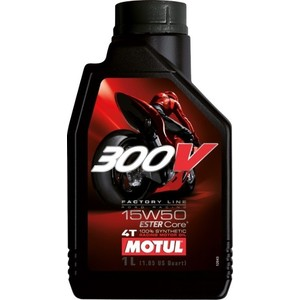 Моторное масло MOTUL 300V Factory Line Road Racing 15W-50 1 л моторное масло motul 5100 4t 15w 50 1 л