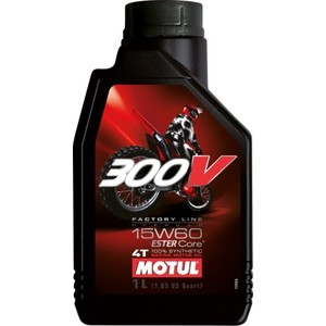 Моторное масло MOTUL 300V Factory Line Off Road 15W-60 1 л моторное масло motul 5100 4t 15w 50 1 л