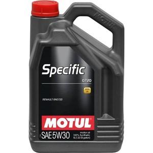 Моторное масло MOTUL Specific 0720 5W-30 5 л моторное масло motul 8100 eco clean 0w 30 1 л