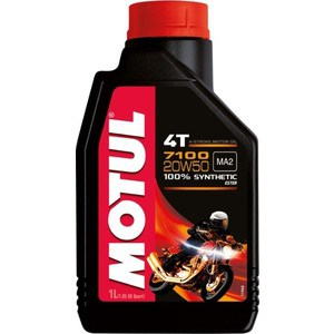 Моторное масло MOTUL 7100 4T 20W-50 1 л моторное масло motul atv power 4t 5w 40 4 л