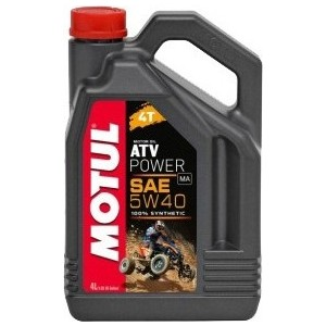 Моторное масло MOTUL ATV Power 4T 5W-40 4 л моторное масло motul 300 v 4t fl road racing 10w 40 4 л