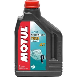 Моторное масло MOTUL Outboard Tech 4T 10W-30 2 л моторное масло motul 300 v 4t fl road racing 10w 40 4 л