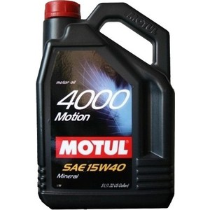Моторное масло MOTUL 4000 Motion 15W-40 4 л моторное масло motul power lcv ultra 10w 40 5 л