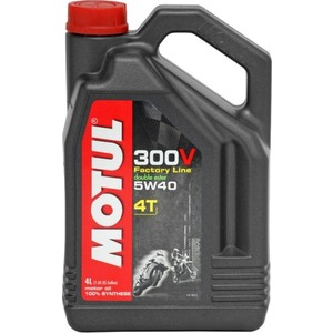 Моторное масло MOTUL 300V Factory Line Road Racing 5W-40 4 л моторное масло motul 300v chrono 10w 40 2 л