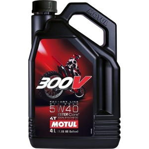 Моторное масло MOTUL 300V Factory Line Off Road 5W-40 4 л моторное масло motul 300v chrono 10w 40 2 л
