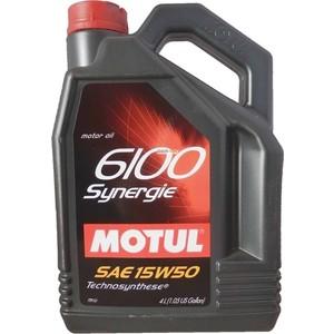 Моторное масло MOTUL 6100 Synergie 15W-50 4 л