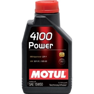Моторное масло MOTUL 4100 Power 15W-50 1 л моторное масло motul power lcv ultra 10w 40 5 л