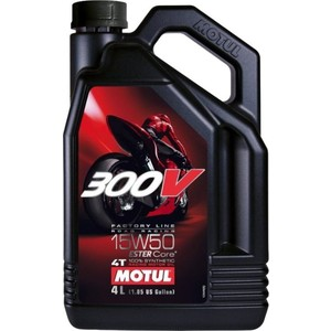 Моторное масло MOTUL 300V Factory Line Road Racing 15W-50 4 л моторное масло motul 5100 4t 15w 50 1 л