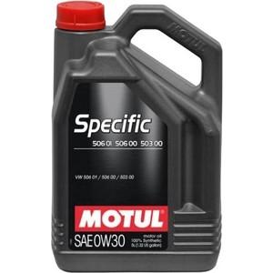 Моторное масло MOTUL Specific 506 01 / 506 00 / 503 00 0W-30 5 л моторное масло motul specific vw 504 00 507 00 5w 30 1 л