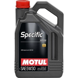 Моторное масло MOTUL Specific 229.52 5W-30 5 л моторное масло motul power lcv ultra 10w 40 5 л