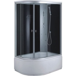 Душевая кабина Aqualux MODO-120 матовое стекло /заднее стекло тёмное (AQ-4072GFR-Bl) душевая кабина aqualux idro 100x100 белое стекло заднее стекло матовое aq 41700gm wh