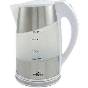 Чайник электрический Добрыня DO-1206, белый