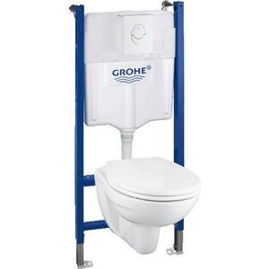 цены  Комплект Grohe Lixil Solido инсталляция + унитаз с сиденьем микролифт (39117000)