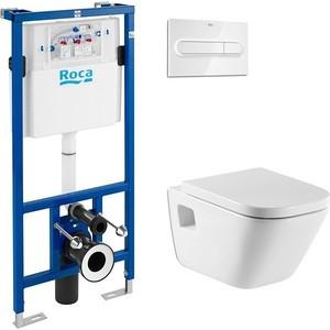 Комплект Roca Gap 346477000 унитаз + инсталляция Roca WC, кнопка хром dsu wc luminous pvc wall sticker removable waterproof thinking post pictures door sign bathroom toilet sticker