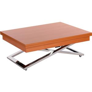 Стол-трансформер Levmar Cross CH складной журнальный стол хай тек levmar cross gl белый глянец