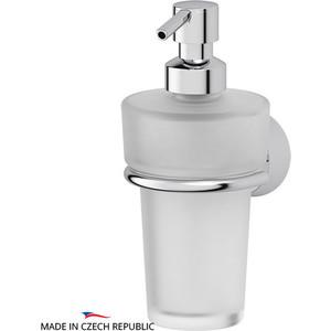 Держатель с емкостью для жидкого мыла FBS Vizovice хром (VIZ 009) мыльница fbs vizovice viz 010