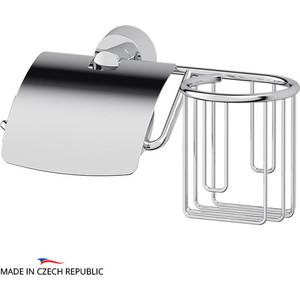 Держатель туалетной бумаги с крышкой и освежителя FBS Vizovice хром (VIZ 053)