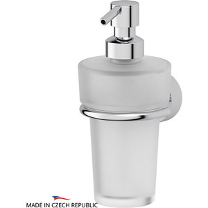 Держатель с емкостью для жидкого мыла FBS Nostalgy хром (NOS 009) емкость для жидкого мыла металлическая fbs nostalgy хром nos 011