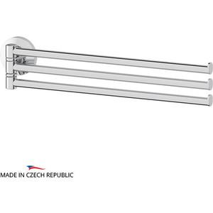 Держатель полотенец поворотный тройной 37 см FBS Standard хром (STA 045) держатель полотенец поворотный четверной 37 см fbs standard хром sta 046