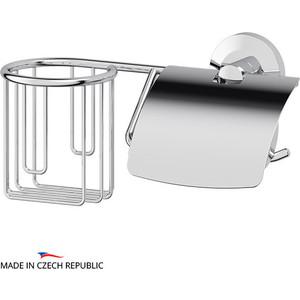 Держатель освежителя и туалетной бумаги с крышкой FBS Standard хром (STA 054) ерш с крышкой fbs standard хром sta 057