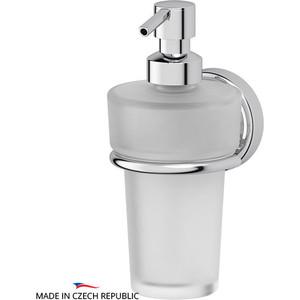 Держатель с емкостью для жидкого мыла FBS Ellea хром (ELL 009) держатель со стаканом и емкостью для жидкого мыла fbs ellea хром ell 008