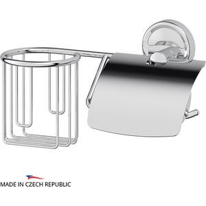 Держатель освежителя и туалетной бумаги с крышкой FBS Ellea хром (ELL 054)