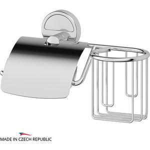 Держатель туалетной бумаги с крышкой и освежителя FBS Luxia хром (LUX 053) держатель туалетной бумаги keuco elegance с крышкой 11660010000