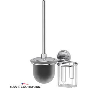Ерш с крышкой и держатель освежителя FBS Luxia хром (LUX 059) ерш напольный с крышкой fbs universal хром uni 060